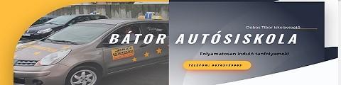 Elkészített referencia weboldal, BÁTOR Autósiskola