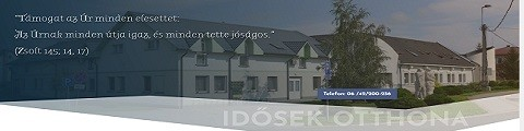Elkészített referencia weboldal, Ibrány Idősek Otthona