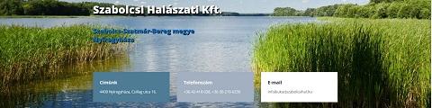Elkészített referencia weboldal - Szabolcsi Halászati Kft.