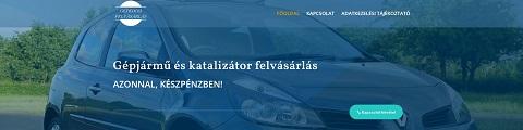 Elkészített referencia weboldal gepkocsifelvasarlas.hu